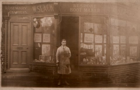 Pictured above Kenneth Slack taken in the 1930s outside 38 Rosemary Street
