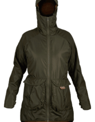 photo of paramo womens pajaro jacket in moss colour