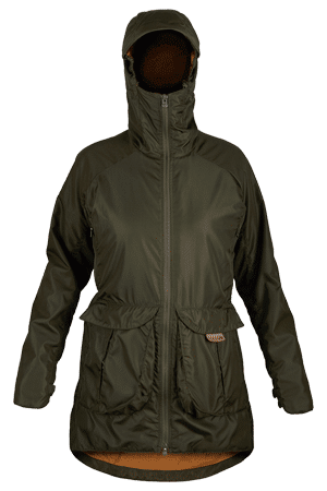 photo of paramo womens pajaro jacket in moss colour