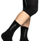 Woolpower 400 logo sock black