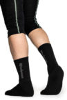 Woolpower 400 logo sock black b