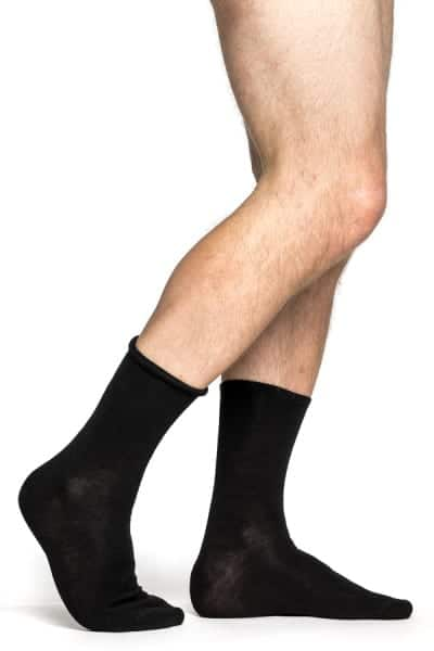 photo of Woolpower liner lite classic socks in black colour