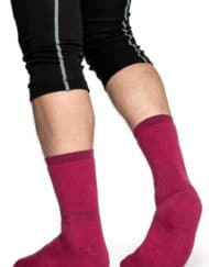 Woolpower 400 socks cerise b