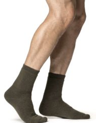 photo of Woolpower socks 400 in pine green colour