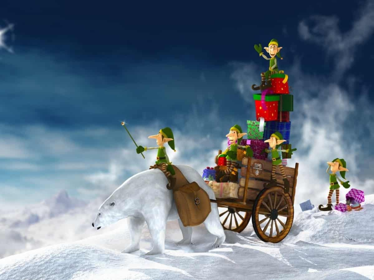 Christmas Delivery Widescreen Funny Winter Graphics Xmas Mas Feast Cool Fun Cold Merry Holidays Fullscreen Wallpaper