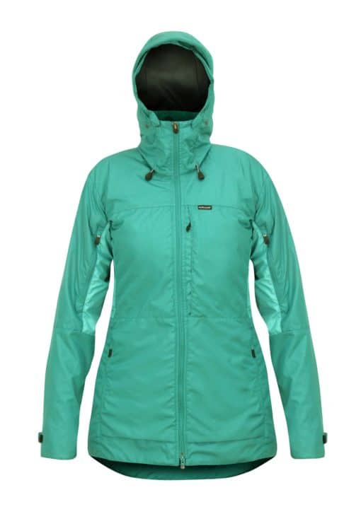 photo of Paramo womens alta 3 jacket in cyan colour