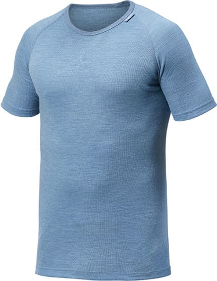 photo of Woolpower tee lite in nordic blue colour