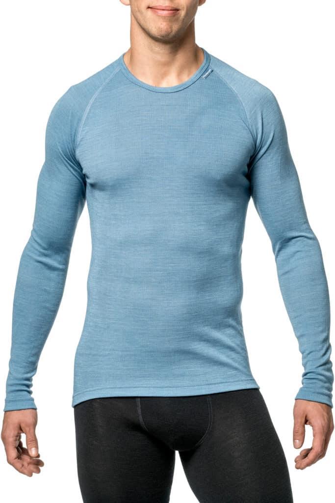 Woolpower Crewneck LITE Unisex Nordic Blue | Merino Wool Clothing