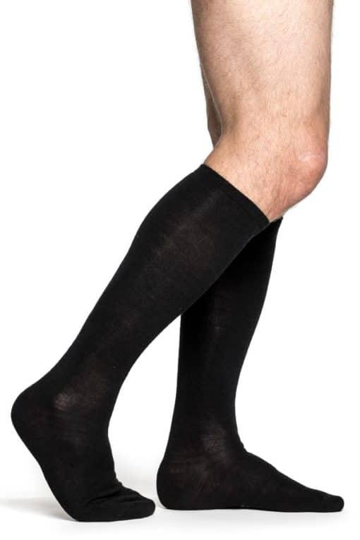 photo of Woolpower liner lite knee high socks in black colour