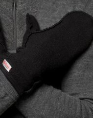 9744 woolpower 400 mittens thin black