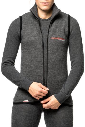 woolpower 7244 zip vest grey