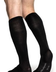 woolpower 8481 knee high liner sock black