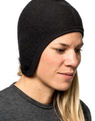 woolpower 9644 helmet cap 400 black