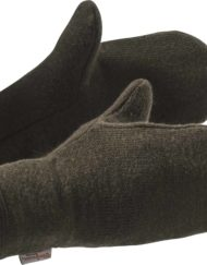 photo of woolpower 9754 mittens 400 in pine green colour