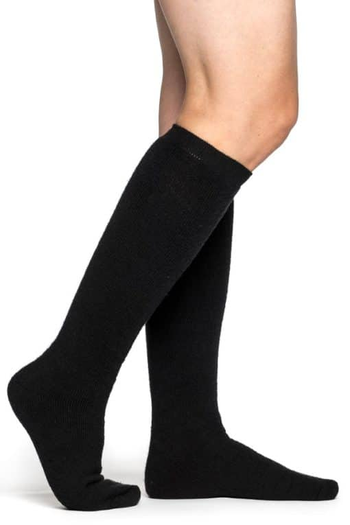 photo of Woolpower knee high 400 socks in black colour