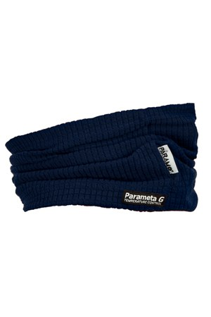 photo of paramo grid neckwarmer in midnight colour