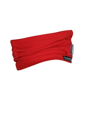 photo of paramo grid neck warmer in flame colour