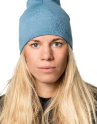 photo of Woolpower beanie lite in nordic blue colour