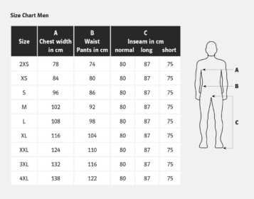 Pfanner trousers size guide