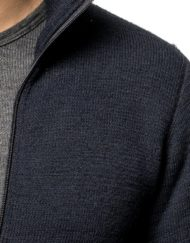 photo of Woolpower 600g full zip sweater dark navy colour