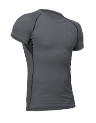 Pfanner vega mens performance shirt steel grey