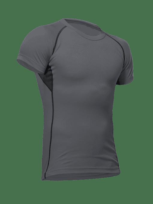 Pfanner vega mens performance shirt steel grey